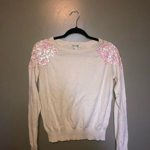 Forever 21 sweater with holographic sequins